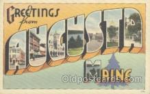 LLT001092 - Augusta, Maine USA Large Letter Town Postcard Postcards