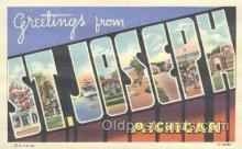 LLT001094 - St. Joseph, Michigan USA Large Letter Town Postcard Postcards
