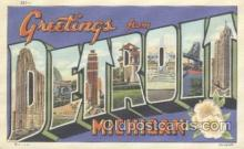 LLT001096 - Detroit, Michigan USA Large Letter Town Postcard Postcards