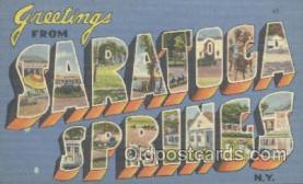 LLT001097 - Saratoga Springs, USA Large Letter Town Postcard Postcards