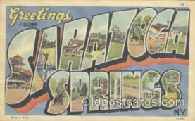 LLT001098 - Saratoga Springs, USA Large Letter Town Postcard Postcards