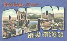 LLT001099 - Raton, New Mexico, USA Large Letter Town Postcard Postcards
