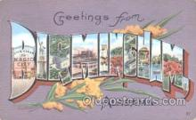 LLT001107 - Birmingham, Alabama, USA Large Letter Town Postcard Postcards