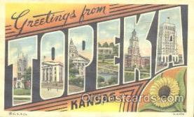LLT001112 - Topeka, Kansas, USA Large Letter Town Postcard Postcards