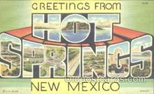 LLT001117 - Hot Springs, New Mexico, USA Large Letter Town Postcard Postcards