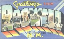 LLT001118 - Roswell, N.M. USA Large Letter Town Postcard Postcards