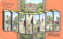 LLT001125 - Rockford, Illinois, USA Large Letter Town Postcard Postcards