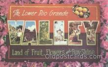 LLT001128 - Rio Grande Valley Large Letter Town Postcard Postcards