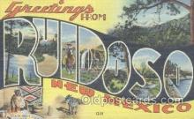 LLT001136 - Ruidoso, New Mexico, USA Large Letter Town Postcard Postcards