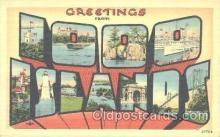 LLT001144 - 1000 islands, USA Large Letter Town Postcard Postcards