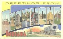 LLT001145 - Richmond, Indiana, USA Large Letter Town Postcard Postcards
