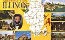 LLT001151 - Illinois, USA Large Letter Town Postcard Postcards