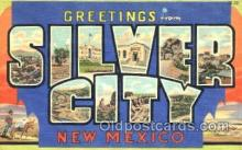 LLT001160 - Silver City, New Mexico, USA Large Letter Town Postcard Postcards
