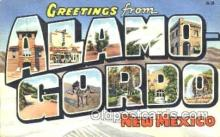 LLT001162 - Alamo Gordo, New Mexico, USA Large Letter Town Postcard Postcards