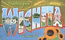 LLT001163 - Wichita, Kansas, USA Large Letter Town Postcard Postcards
