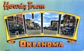 LLT001165 - Hugo, Oklahoma, USA Large Letter Town Postcard Postcards