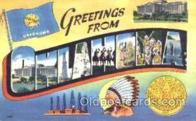 LLT001170 - Oklahoma, USA Large Letter Town Postcard Postcards
