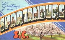 LLT001174 - Spartanburg, S.C. USA Large Letter Town Postcard Postcards