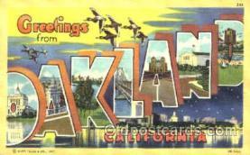 LLT001176 - Oakland, California, USA Large Letter Town Postcard Postcards