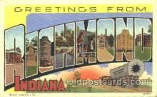 LLT001179 - Richmond, Indiana, USA Large Letter Town Postcard Postcards