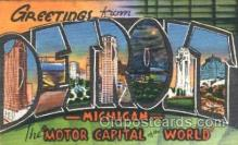 LLT001180 - Detroit, Michigan USA Large Letter Town Postcard Postcards