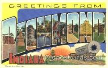 LLT001192 - Richmond, Indiana, USA Large Letter Town Postcard Postcards