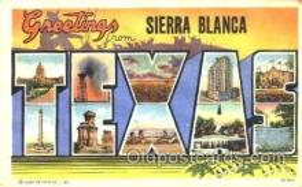 LLT001194 - Sierra Blanca, Texas, USA Large Letter Town Postcard Postcards
