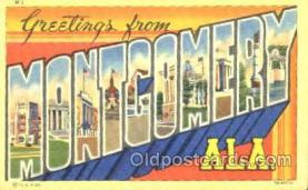 LLT001197 - Montgomery, ALA. USA Large Letter Town Postcard Postcards