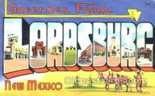 LLT001208 - Lordsburg, New Mexico, USA Large Letter Town Postcard Postcards