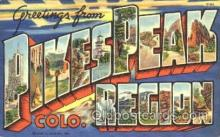 LLT001216 - Pikes Peak CO. USA Large Letter Town Postcard Postcards