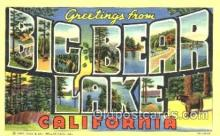 LLT001226 - Big Bear Lake California, USA Large Letter Town Postcard Postcards