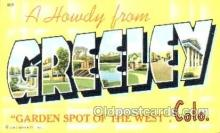LLT001228 - Greeley, Colorado, USA Large Letter Town Postcard Postcards