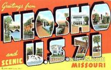LLT001242 - Neosho Missouri USA, US 71 Large Letter Town Postcard Postcards