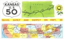 LLT001246 - Kansas US 50 Large Letter Town Postcard Postcards