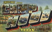 LLT001252 - Camp Hood, Texas Large Letter Town Postcard Postcards