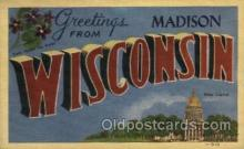 LLT001260 - Madison, Wisconsin Large Letter Town Towns Post Cards Postcards