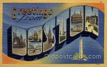 LLT001265 - Boston, Massachusetts Large Letter Town Towns Post Cards Postcards