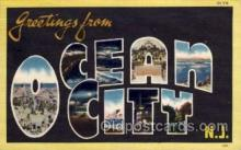 LLT001273 - Ocean City, New Jersey Large Letter Town Towns Post Cards Postcards