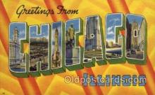 LLT001274 - Chicago, Illinois Large Letter Town Towns Post Cards Postcards
