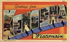 LLT001275 - Kenosha, Wisconsin Large Letter Town Towns Post Cards Postcards