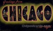 LLT001277 - Chicago, Illinois Large Letter Town Towns Post Cards Postcards