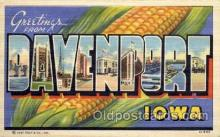 LLT001280 - Davenport, Iowa Large Letter Town Towns Post Cards Postcards