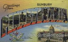 LLT001282 - Sunbury, Pennsylvania Large Letter Town Towns Post Cards Postcards