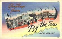 LLT001292 - Wildwood-By-The-Sea, New Jersey Large Letter Town Towns Post Cards Postcards