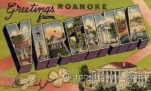 LLT001294 - Roanoke, Virginia Large Letter Town Towns Post Cards Postcards