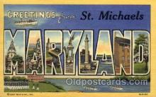 LLT001295 - St. Michaels, Maryland Large Letter Town Towns Post Cards Postcards