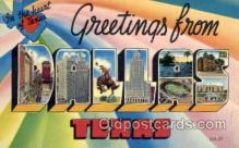 LLT001297 - Dallas, Texas Large Letter Town Towns Post Cards Postcards
