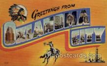 LLT001306 - Oklahoma City, Oklahoma Large Letter Town Towns Post Cards Postcards