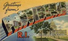 LLT001310 - Providence, Rhode Island Large Letter Town Towns Post Cards Postcards