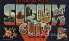 LLT001311 - Sioux City, Iowa Large Letter Town Towns Post Cards Postcards